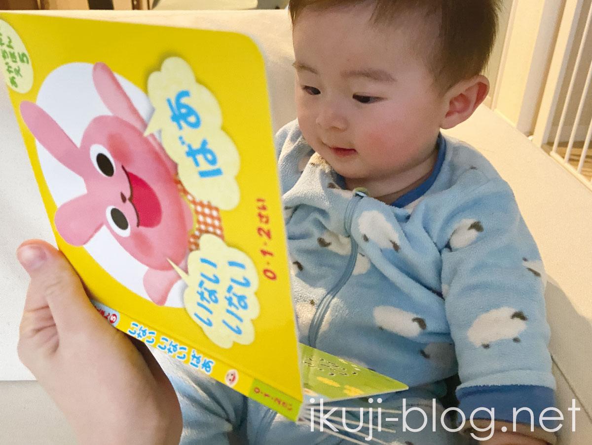 赤ちゃんの大好きな遊び!ダイソーの絵本「いないいないばあ」
