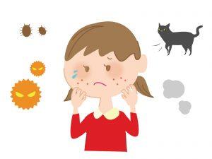 アレルギーで苦しむ子供