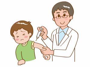 血液検査を受ける子ども