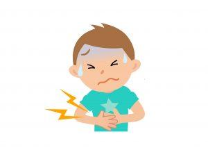 食物アレルギーの消火器の症状例