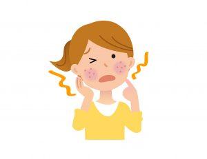 食物アレルギーの皮膚の症状例
